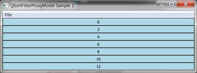 QSortFilterProxyModel_Sample1_EvenEntries